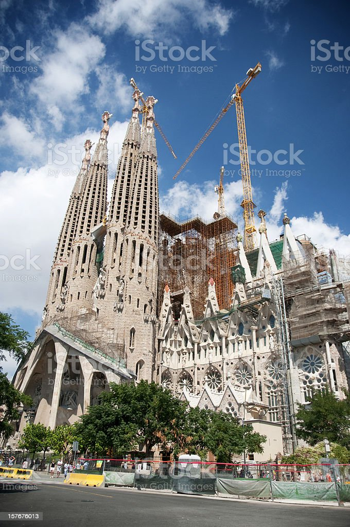 Sagrada Familia Unfinished Church By Gaudi Stock Photo More