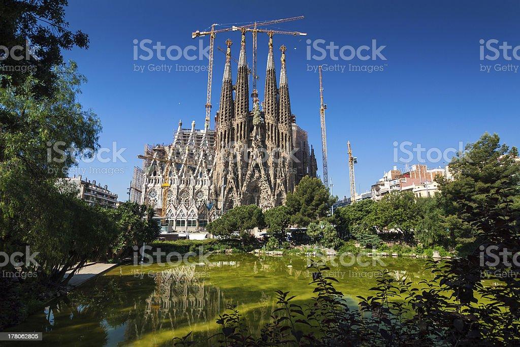 Sagrada Familia which is located in Barcelona  stock photo