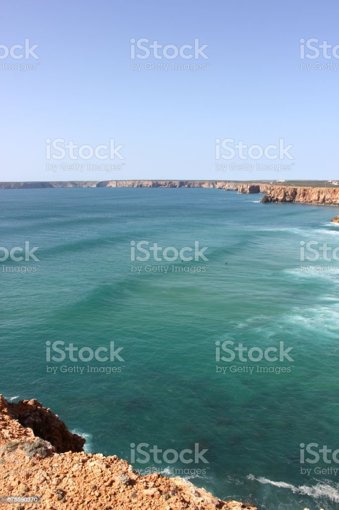 Sagres Surfing Spot photo libre de droits
