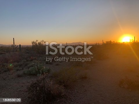 Dramatic sunset over Tucson