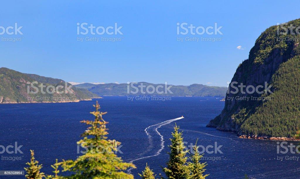 Saguenay Fjord, Quebec, Canada stock photo