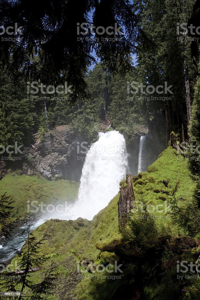 Sahalie Falls waterfall in Oregon royalty-free stock photo