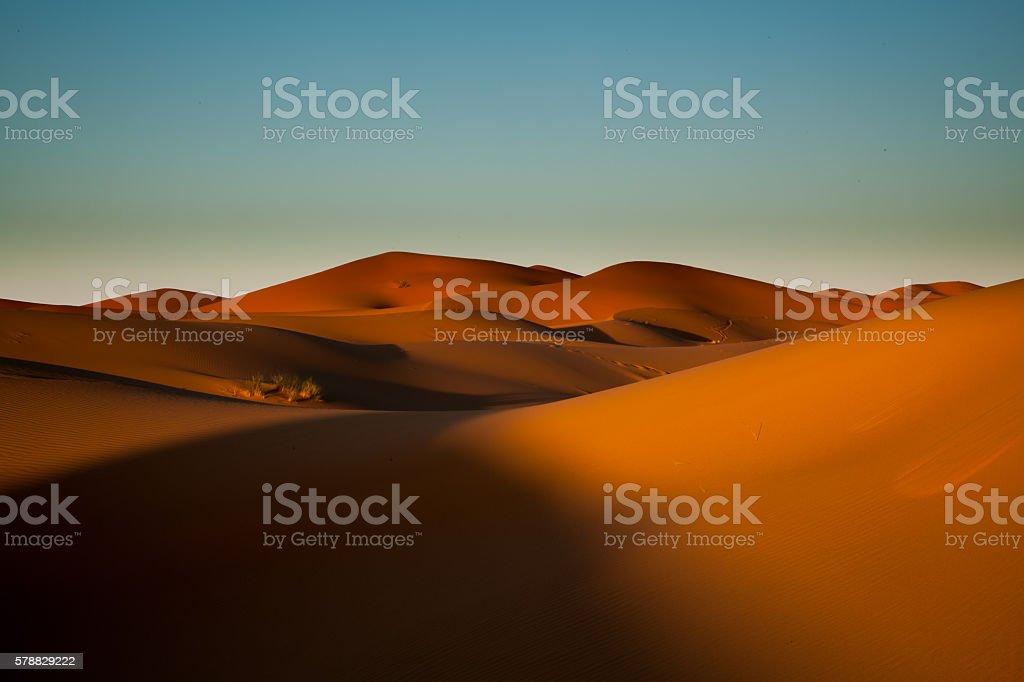 Sahara Desert, Merzouga, Marocco stock photo