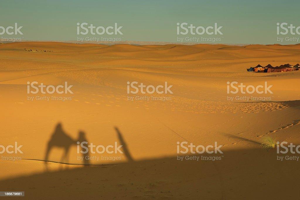 Sahara Desert, Merzouga, Morocco royalty-free stock photo