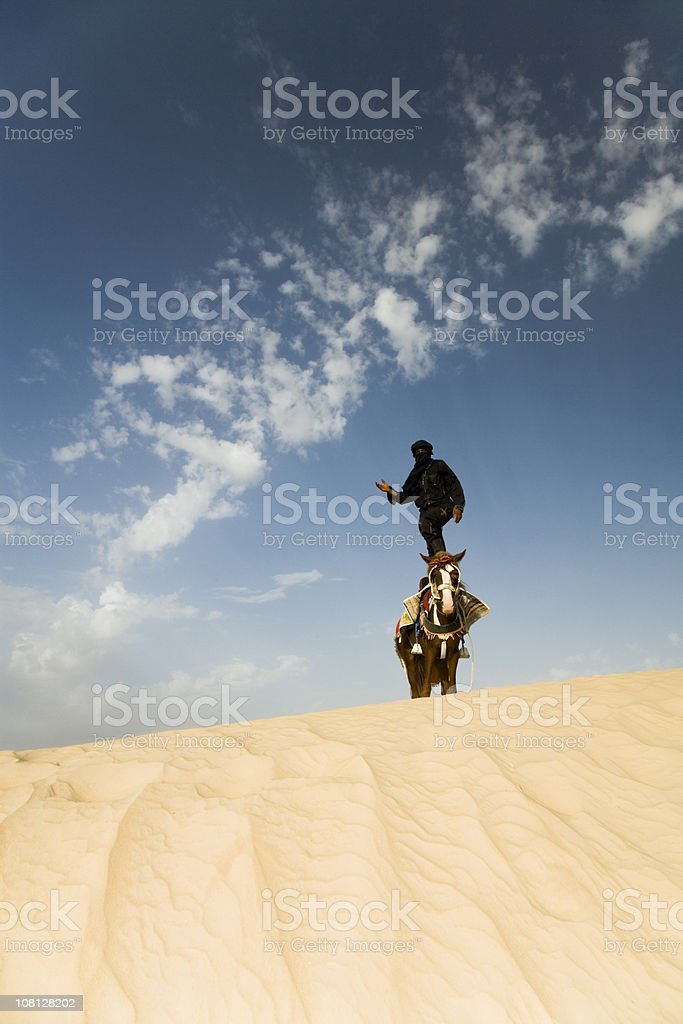 sahara desert portrait stock photo