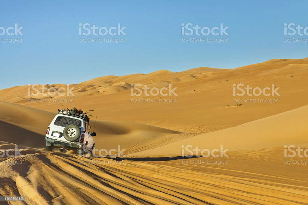 Sahara desert safari in a caravan stock photo