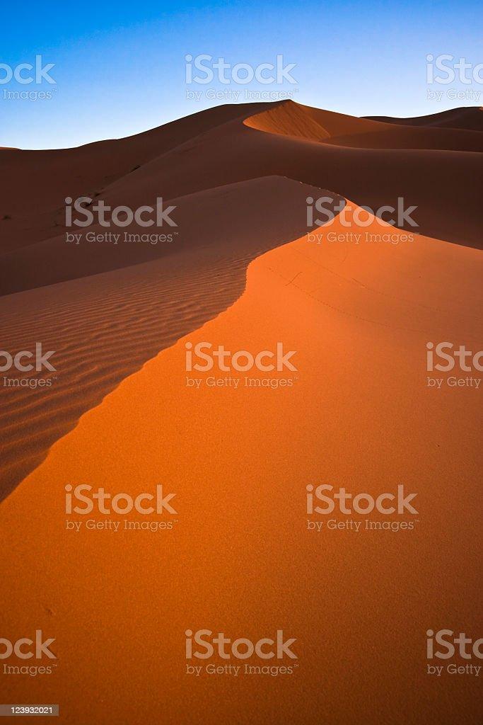 Sahara Sanddünen vor blauem Himmel – Foto