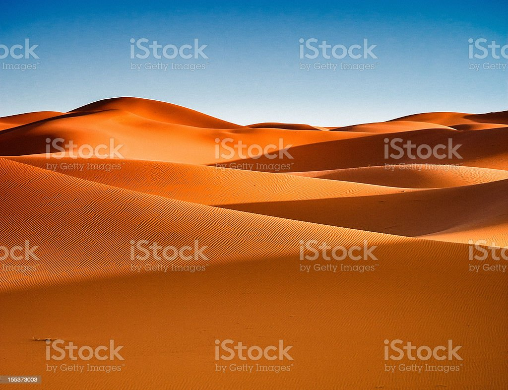 Sahara Desert Sand Dunes royalty-free stock photo