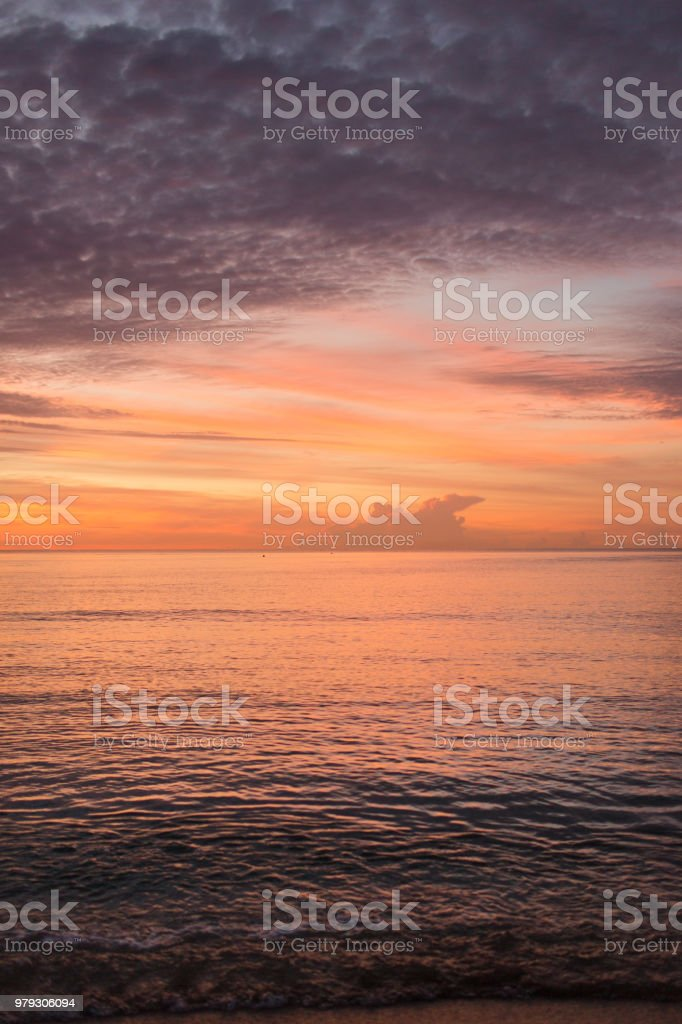 Sahara Dust Sunrise in Palm Beach, Florida stock photo