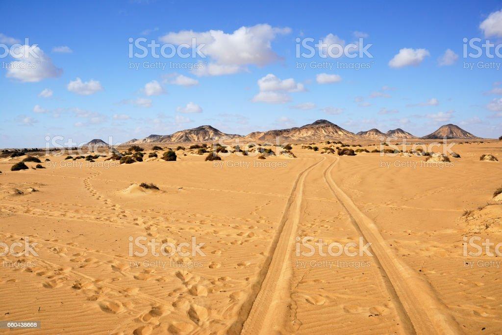 Sahara, the Black desert, Egypt stock photo