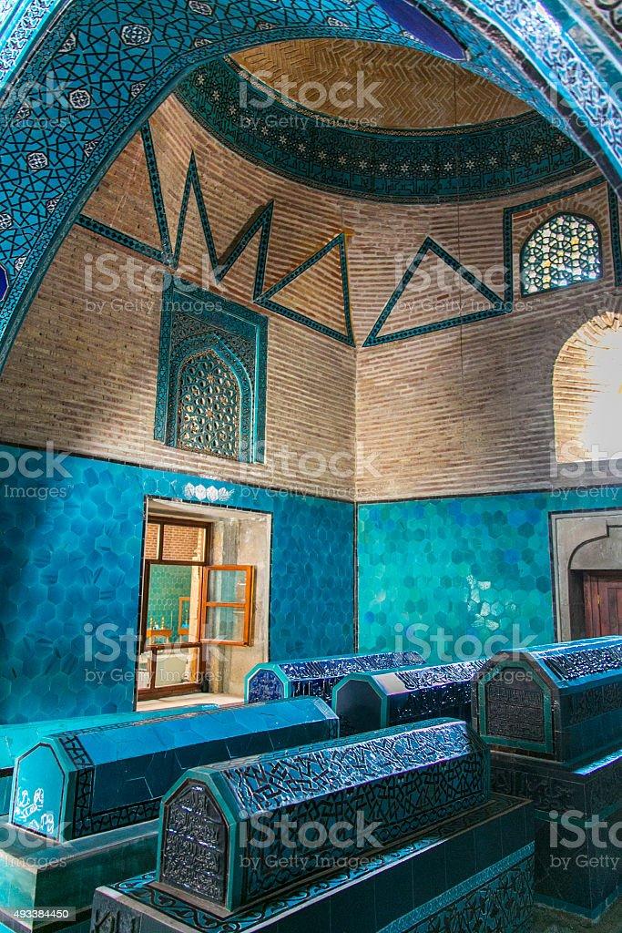 Sahibi Ata Mosque, Museum, Konya stock photo