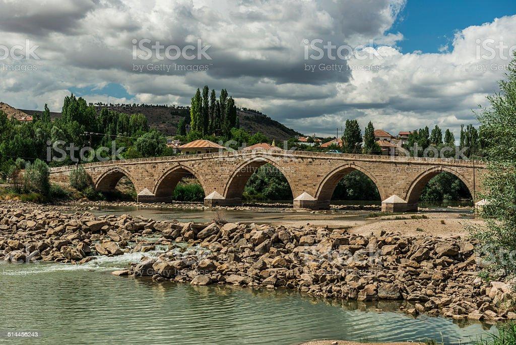 Sahruh bridge, Kayseri, Turkey stock photo