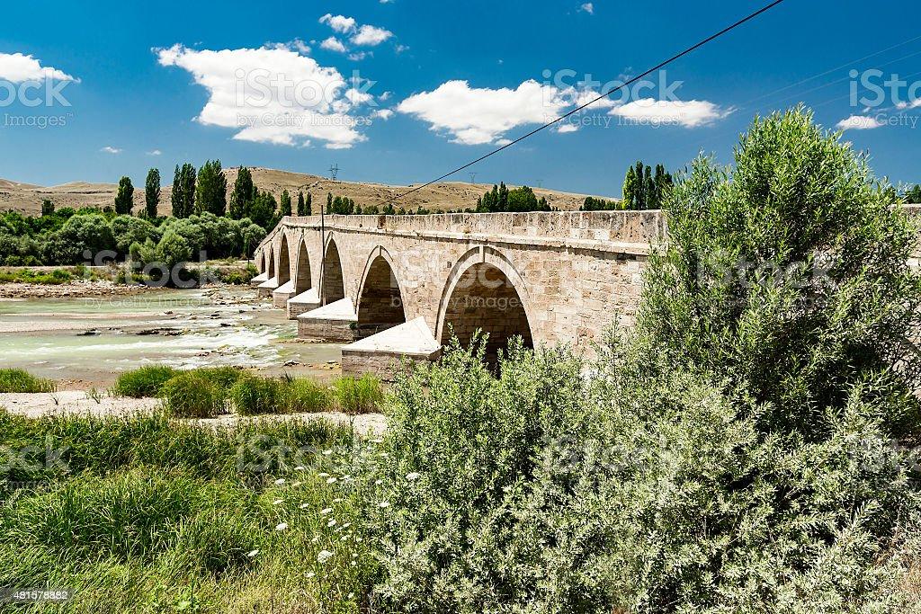 Sahruh Bridge on Red River stock photo