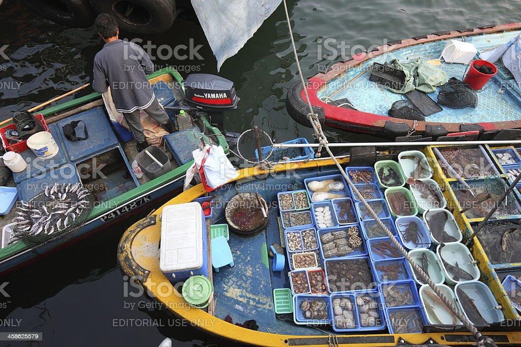 Sai Kung Floating Seafood Market stock photo