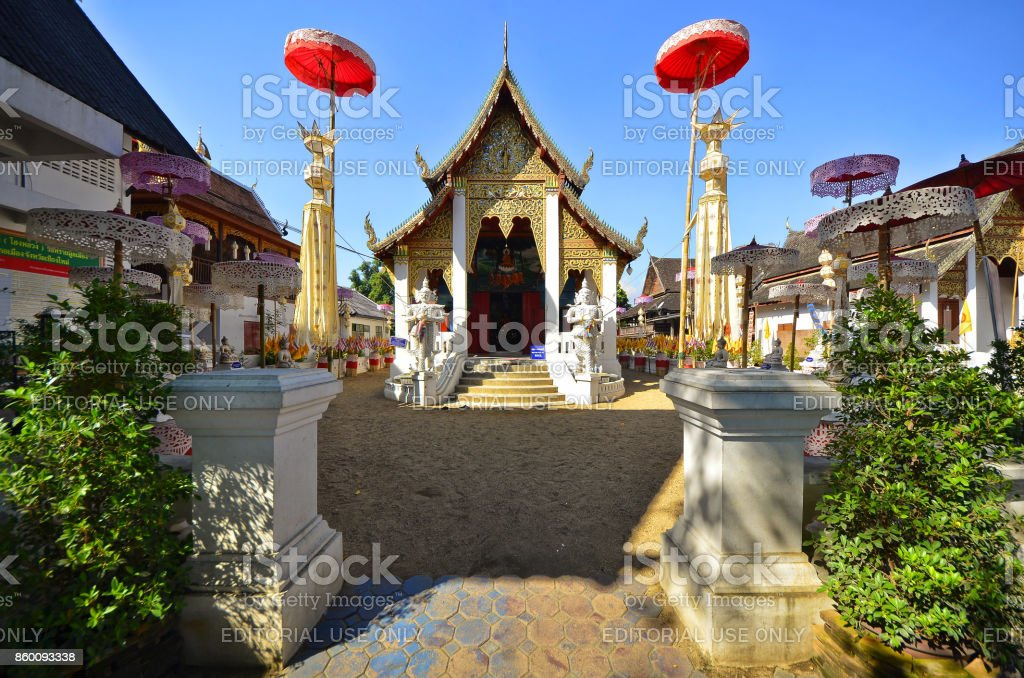 Sai Moon Muang temple stock photo
