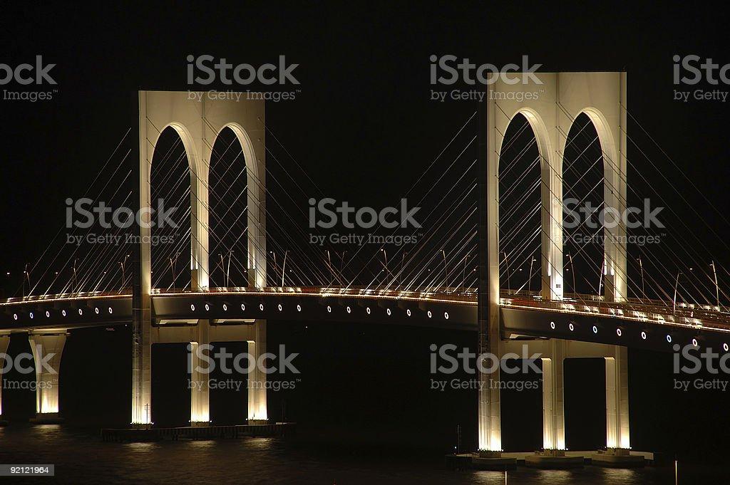 Sai Wan bridge, Macau royalty-free stock photo