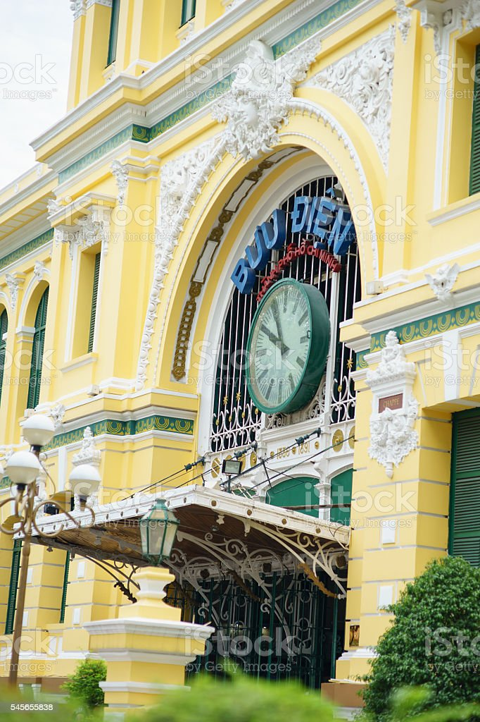 Saigon Central Post Office, Documentary Editorial stock photo