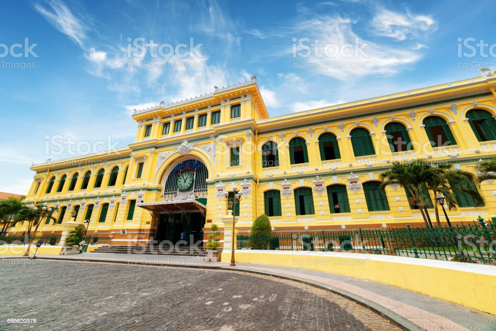 Saigon Central Post Office in Ho Chi Minh city, Vietnam royalty-free stock photo
