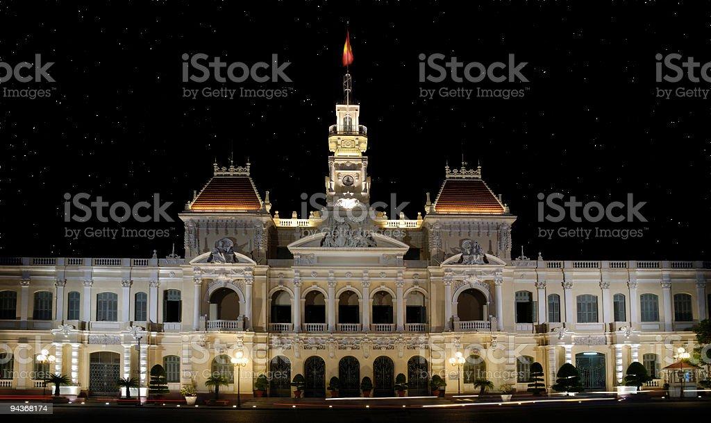 Saigon City Hall, Vietnam royalty-free stock photo