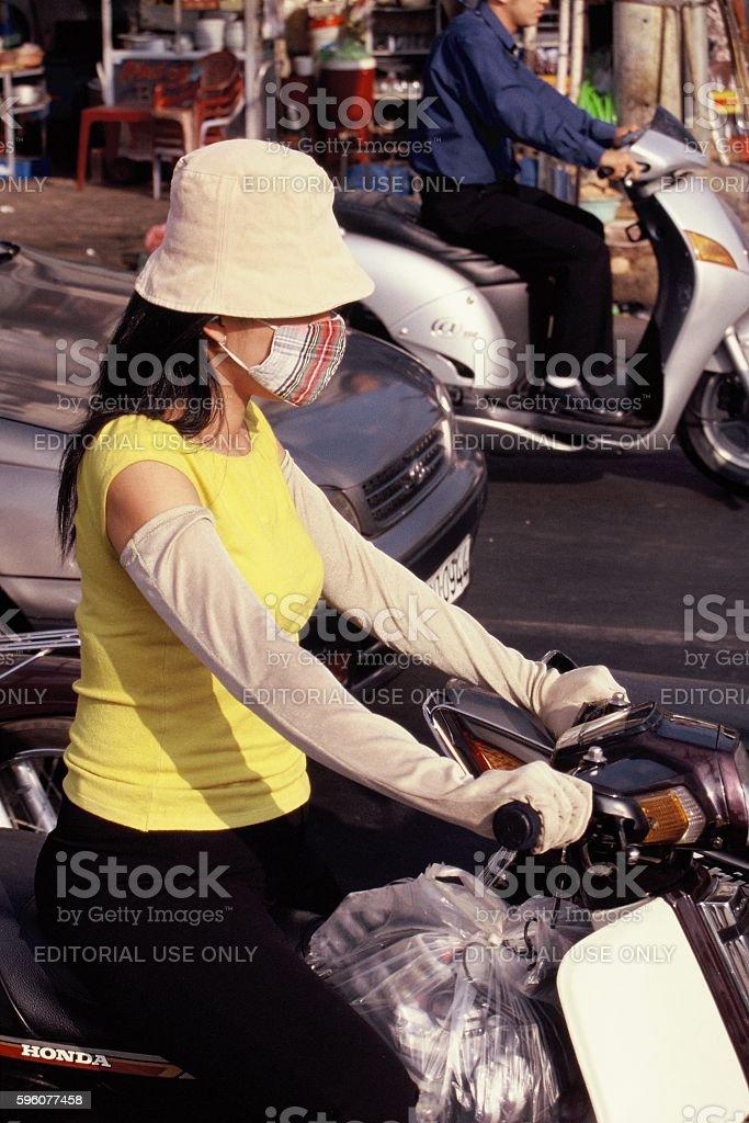 saigon motorbike royalty-free stock photo