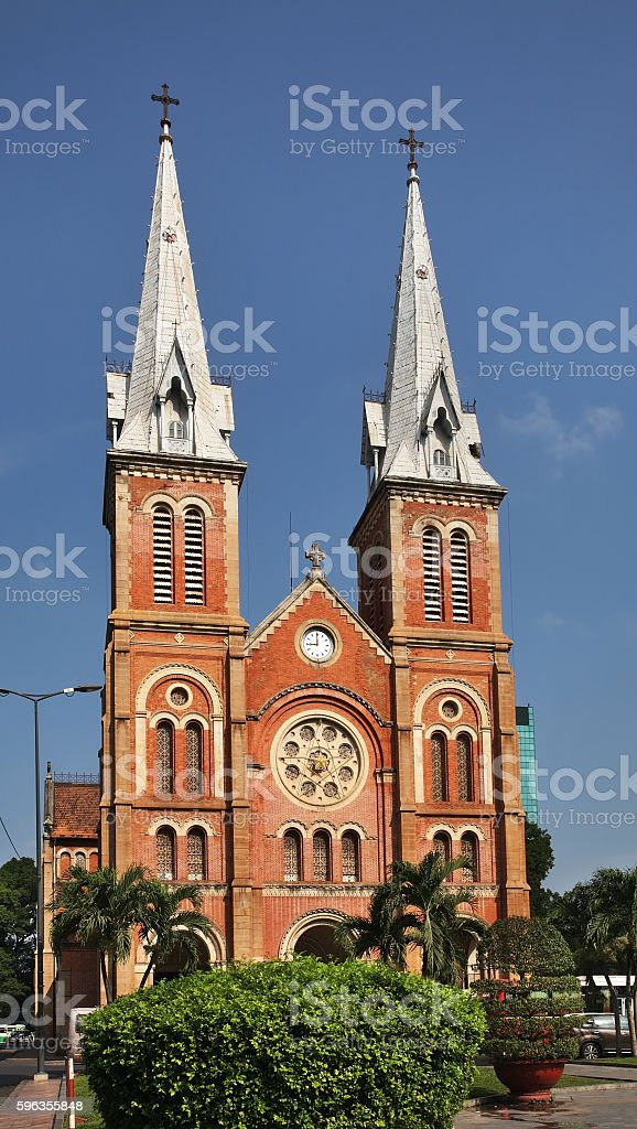 Saigon Notre Dame Cathedral in Ho Chi Minh. Vietnam royalty-free stock photo