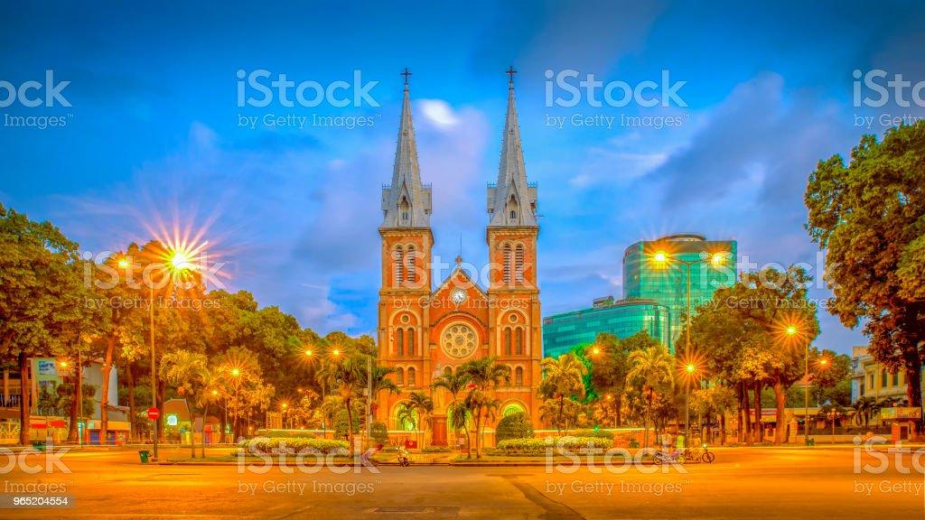 Saigon Notre-Dame Basilica, Vietnam zbiór zdjęć royalty-free