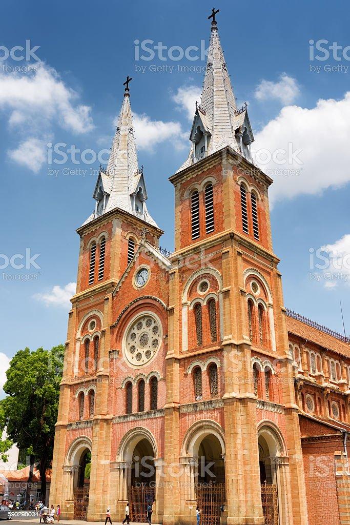 Saigon Notre-Dame Cathedral Basilica, Ho Chi Minh city, Vietnam Стоковые фото Стоковая фотография