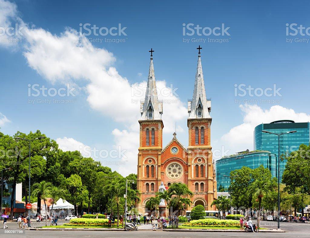Saigon Notre-Dame Cathedral Basilica in Ho Chi Minh, Vietnam Стоковые фото Стоковая фотография