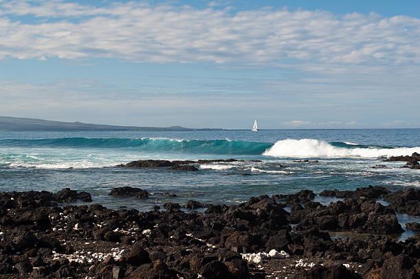 Saiing the Beautiful Kona Coast.  neicebird stock pictures, royalty-free photos & images