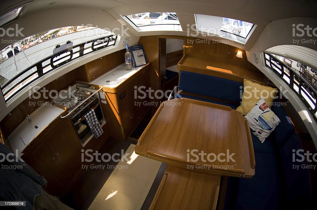 Sail baot interior royalty-free stock photo