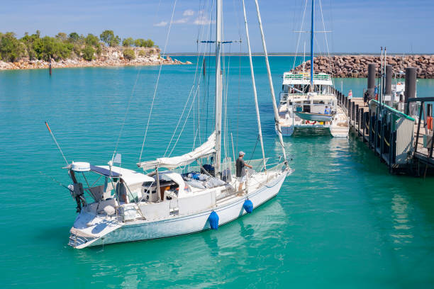 sail boat - darwin stock photos and pictures