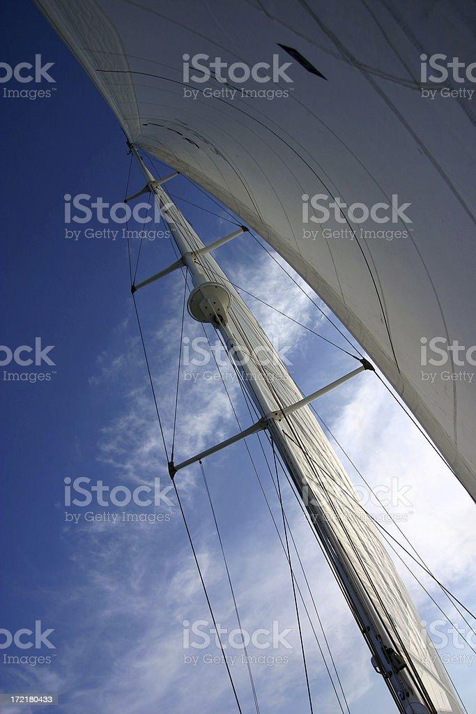 sail boat rigging royalty-free stock photo