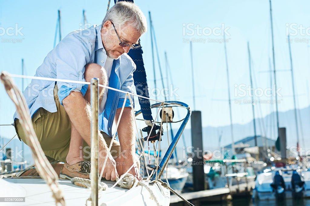 sail boat  yacht mooring stock photo