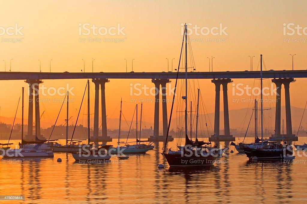 Sail Boats at Rest stock photo