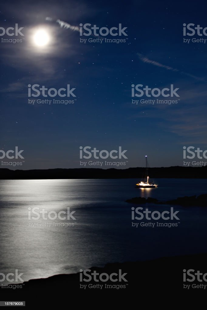 Sail in the Mediterranean. royalty-free stock photo