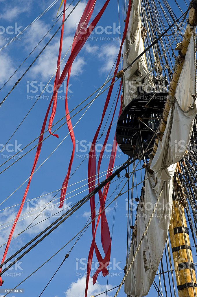 Sail mast royalty-free stock photo