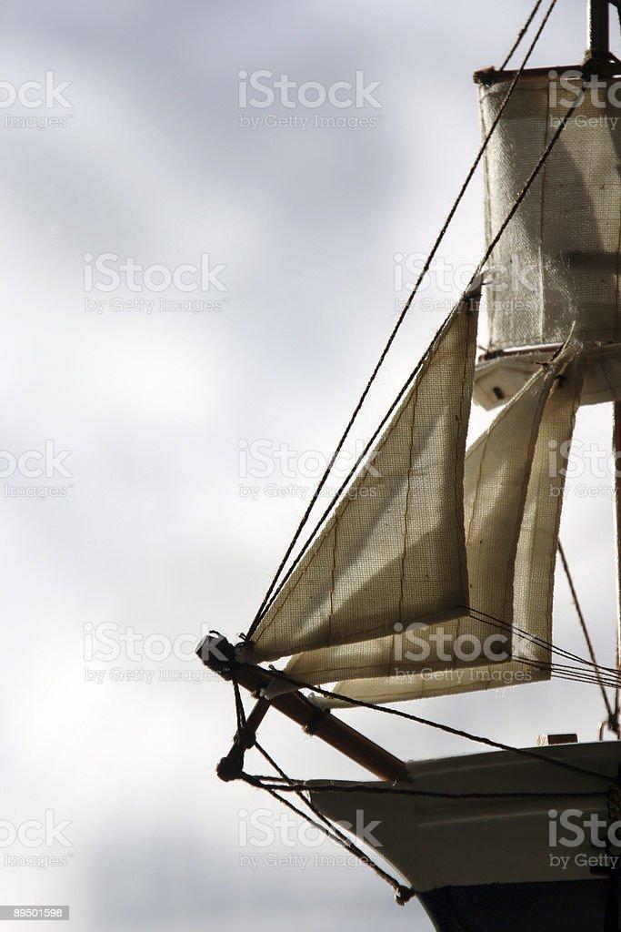 Sail on minitature boat royalty free stockfoto