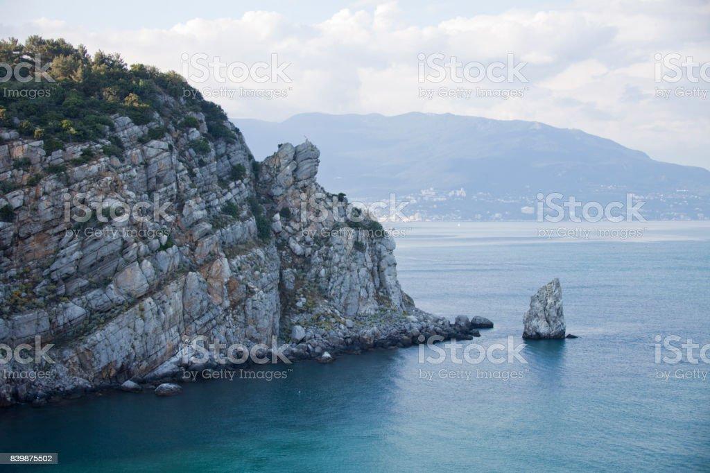 Sail rock. Crimea. Black Sea stock photo