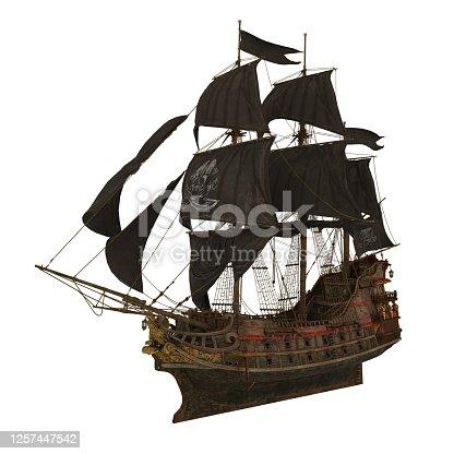 istock Sail Ship Isolated 1257447542