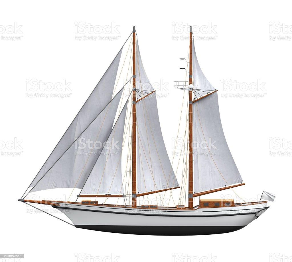 Vela nave isolato - foto stock