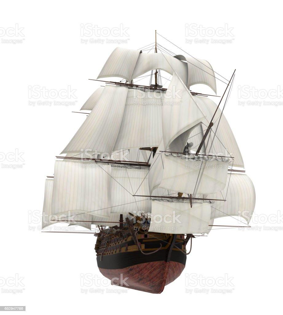 Velero barco aislado - foto de stock