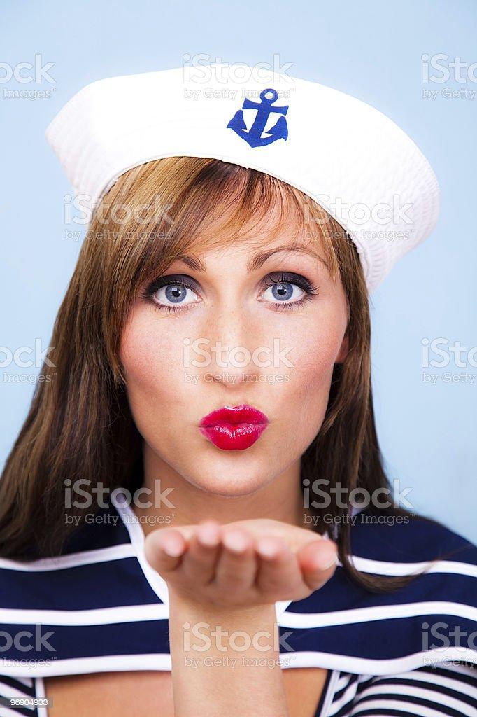 Sail ship sea travel royalty-free stock photo