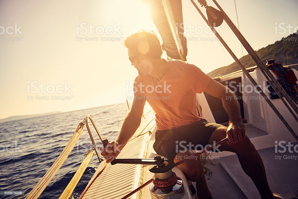 Sail the seas stock photo