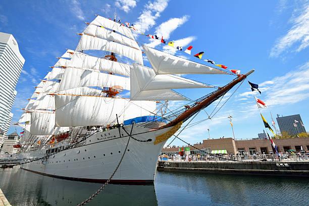 Sail training ship Nippon Maru stock photo