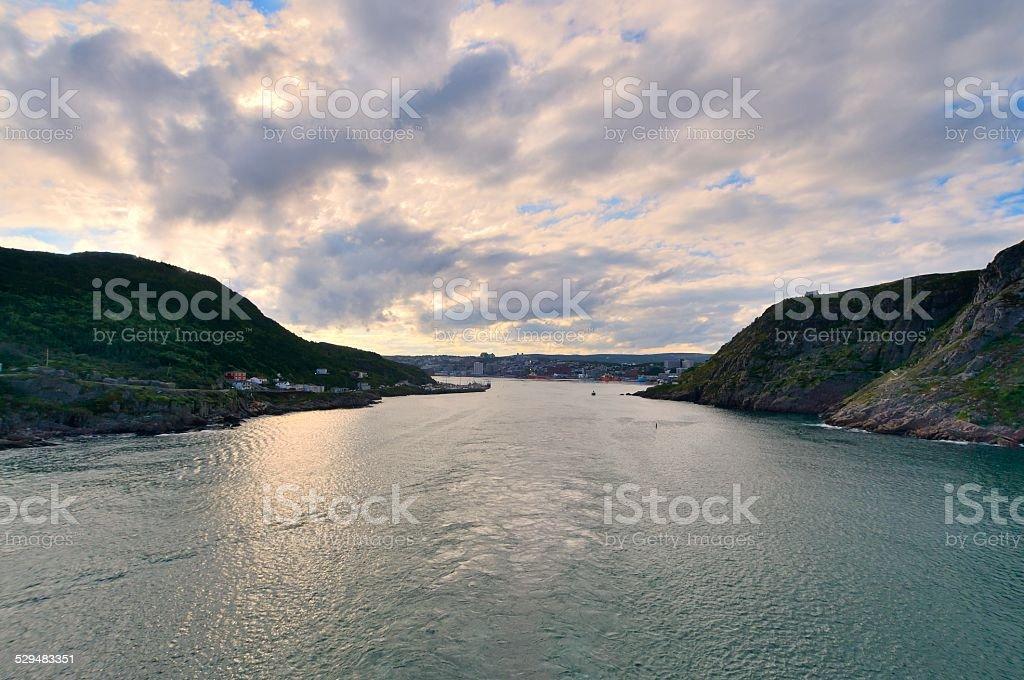 Sailaway From St John's Newfoundland stock photo