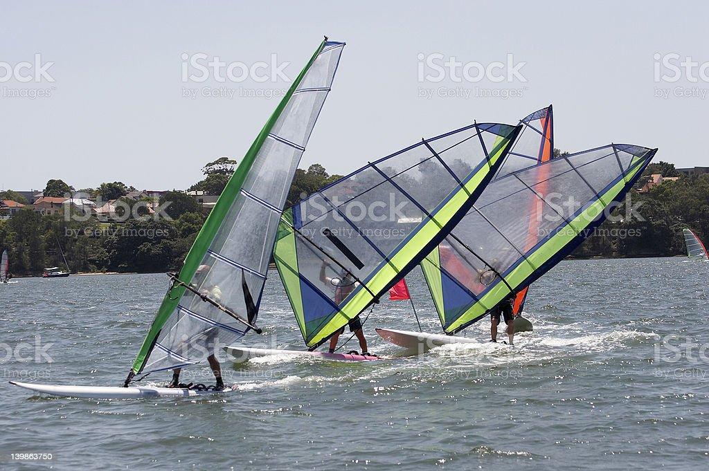 Sailboards Racing royalty-free stock photo