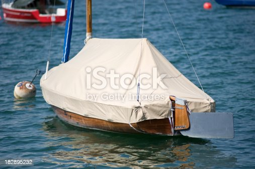 covered sailboat