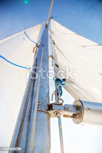 Foresail, close up.