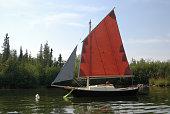 A small sailboat at her mooring.  Click to view similar images.