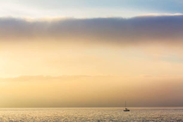 Sailboat - Crystal Cove, Laguna Beach stock photo